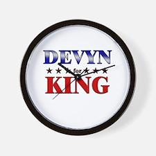 DEVYN for king Wall Clock