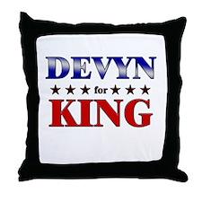 DEVYN for king Throw Pillow