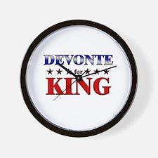 DEVONTE for king Wall Clock