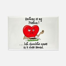 Quilting and Chocolate Rectangle Magnet (10 pack)