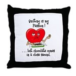 Quilting and Chocolate Throw Pillow