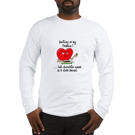 Quilting and Chocolate Long Sleeve T-Shirt