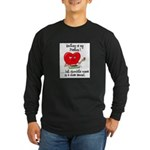 Quilting and Chocolate Long Sleeve Dark T-Shirt