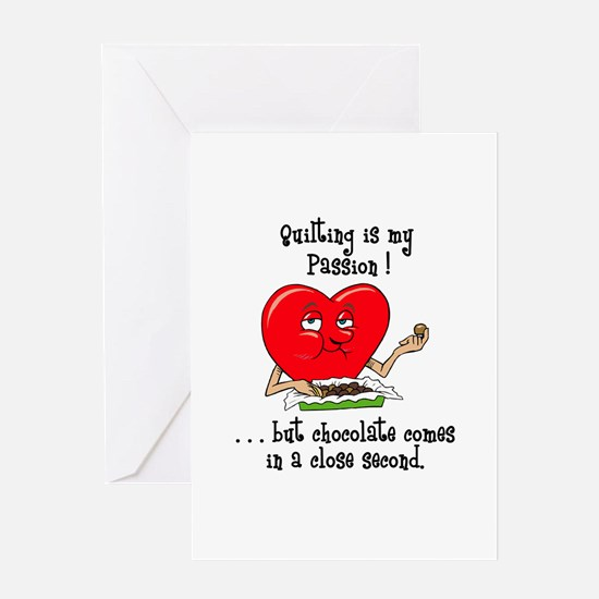 Quilting and Chocolate Greeting Card