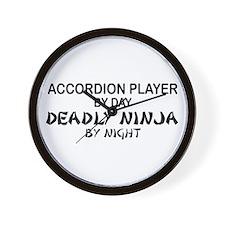 Accordion Deadly Ninja Wall Clock