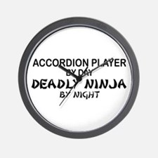 Accordion Deadly Ninja Wall Clock