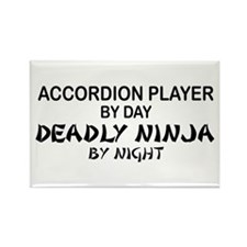 Accordion Deadly Ninja Rectangle Magnet
