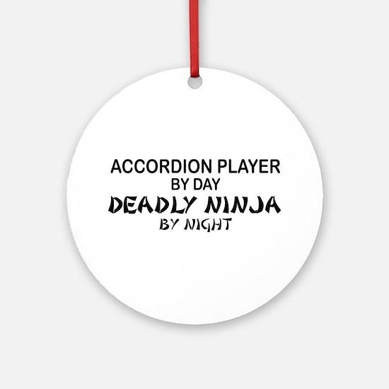 Accordion Deadly Ninja Ornament (Round)