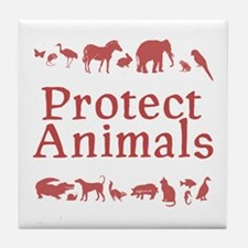 Protect Animals Tile Coaster