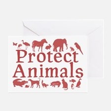 Protect Animals Greeting Card