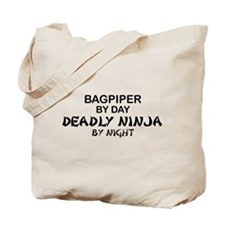 Bagpiper Deadly Ninja Tote Bag