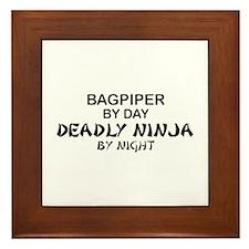 Bagpiper Deadly Ninja Framed Tile