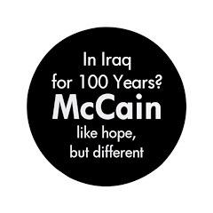 "In Iraq 100 Years 3.5"" Button"