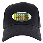 Detroit yellow lettering Black Cap