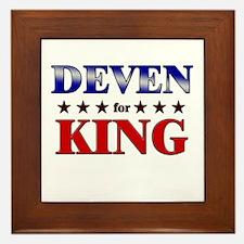 DEVEN for king Framed Tile