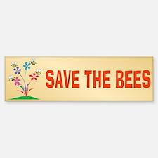 SAVE THE BEES Bumper Car Car Sticker