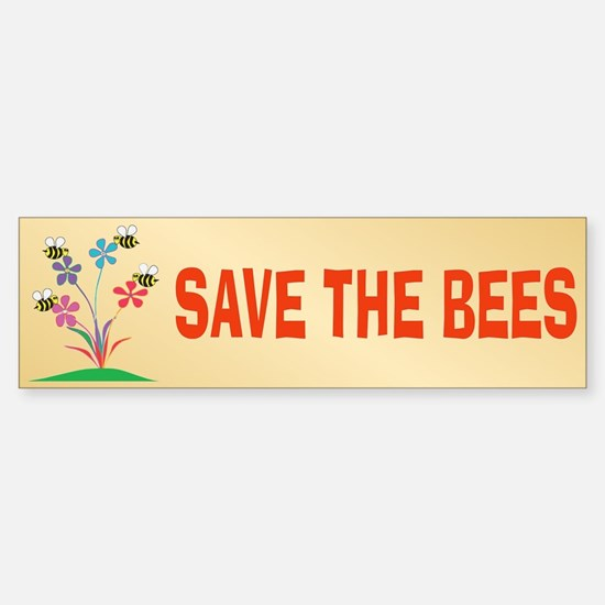 SAVE THE BEES Bumper Car Car Sticker