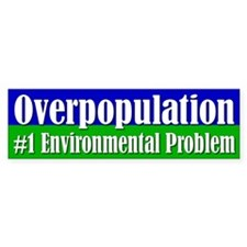 OVERPOPULATION Bumper Car Sticker