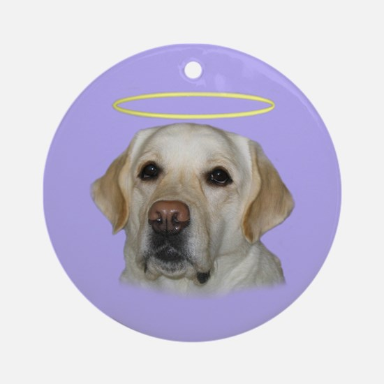 Lab Saint Ornament (Round)