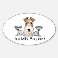 Wire Fox Terrier Pary Oval Decal