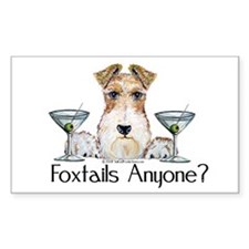 Wire Fox Terrier Pary Rectangle Decal