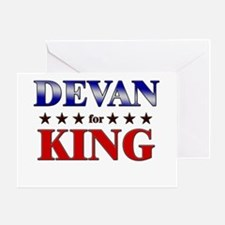 DEVAN for king Greeting Card