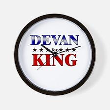 DEVAN for king Wall Clock