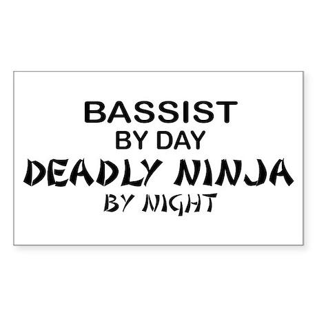 Bassist Deadly Ninja Rectangle Sticker