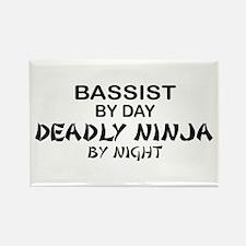 Bassist Deadly Ninja Rectangle Magnet