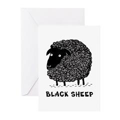 Black Sheep Greeting Cards (Pk of 20)