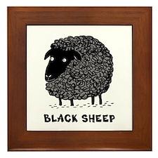 Black Sheep Framed Tile
