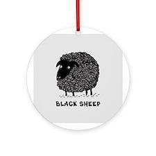 Black Sheep Ornament (Round)