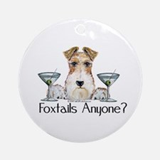 Wire Fox Terrier Pary Ornament (Round)