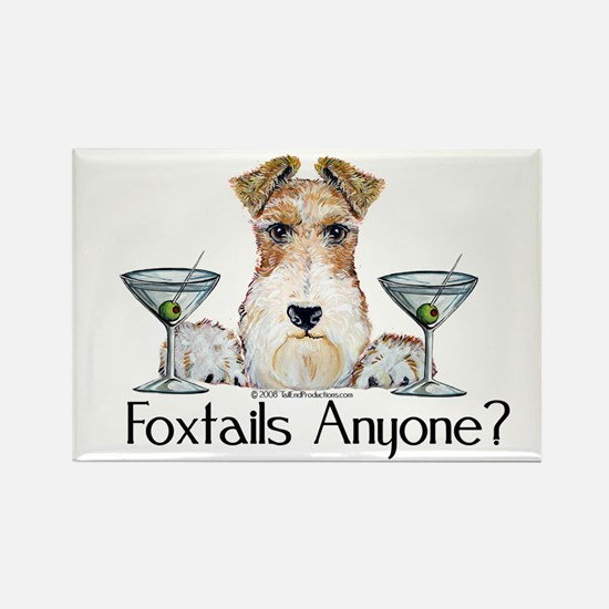 Wire Fox Terrier Pary Rectangle Magnet