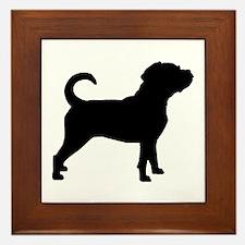 Puggle Dog Framed Tile