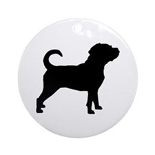 Puggle Dog Ornament (Round)