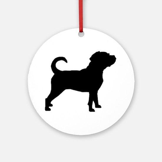 Puggle Dog Ornament (Round)