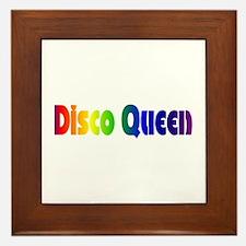 Disco Queen Retro Framed Tile