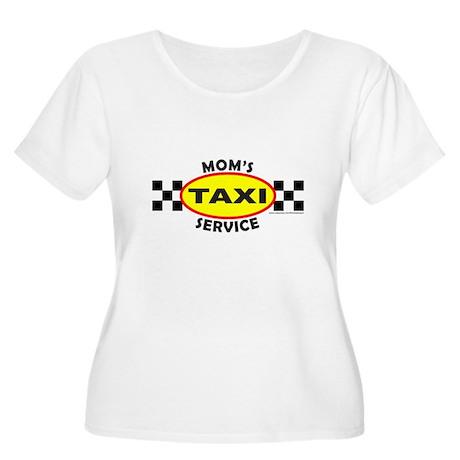 MOM'S TAXI SERVICE Women's Plus Size Scoop Neck T-