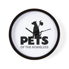 Cute Homeless pets Wall Clock