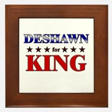 DESHAWN for king Framed Tile