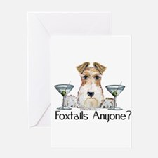 Wire Fox Terrier Pary Greeting Card