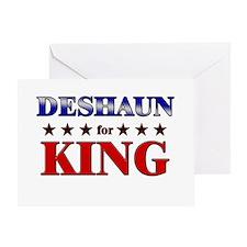 DESHAUN for king Greeting Card