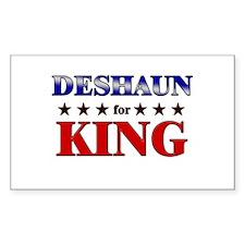 DESHAUN for king Rectangle Decal
