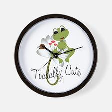 Toadally Cute II Wall Clock