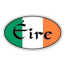 Eire (Ireland) Oval Bumper Stickers