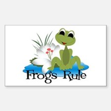 Frogs Rule Rectangle Decal