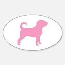 Puggle Dog Oval Decal