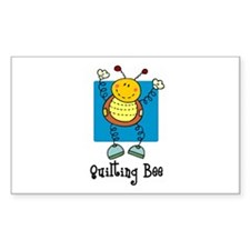 Quilting Bee Rectangle Stickers
