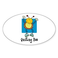 Quilting Bee Oval Decal